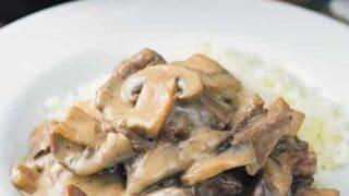 Instant Pot Keto Beef Stroganoff
