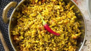 Matki Ussal | Indian Sprouted Beans | Pressure Cooker