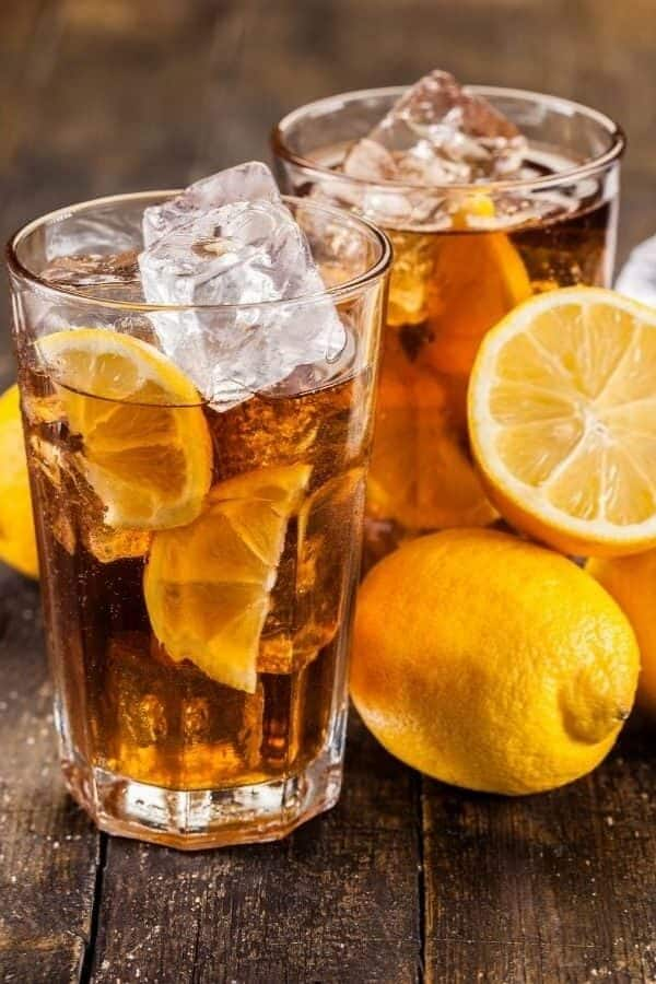 Instant Pot ICed Tea surrounded by lemons