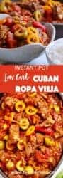 Instant Pot Cuban Rosa Vieja makes an almost effortless low carb mix of meat and vegetables in your pressure cooker. A colorful feast for the eyes as well as your tastebuds, make this dish with less than 10 minutes of prep time. This Ropa Vieja makes a lovely sauce to pour over rice, or to have with a side salad to serve a tasty, low-carb meal.