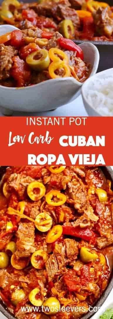 Instant Pot Mexican Ropa Vieja makes an almost effortless low carb mix of meat and vegetables in your pressure cooker.