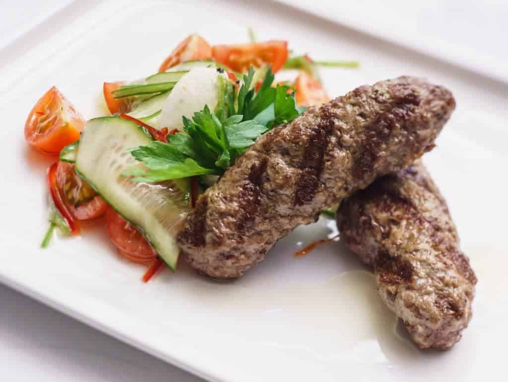 Low Carb Indian Meat Mint Seekh Kababs Two Sleevers