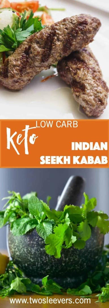 Low Carb Indian Mint Seekh kababs. Restaurant Style kababs at home using an easy recipe to create authentic taste with very little effort.