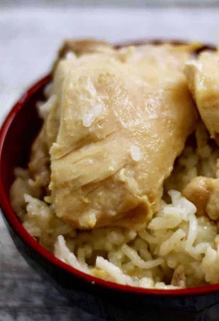 Instant Pot Hainanese Chicken Rice is made in one step and just 6 minutes in your pressure cooker. Bring a taste of Singapore to your table.