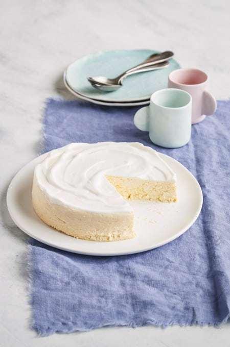 Instant Pot Keto Ricotta Lemon Cheesecake