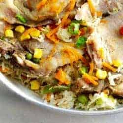 Instant Pot Pork Chops & Rice with Vegetables