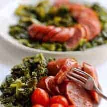Instant Pot Sausage and Kale recipe is a wonderful, quick low carb supper that requires virtually no pre-planning. Make this in your pressure cooker for a fast but delicious meal.