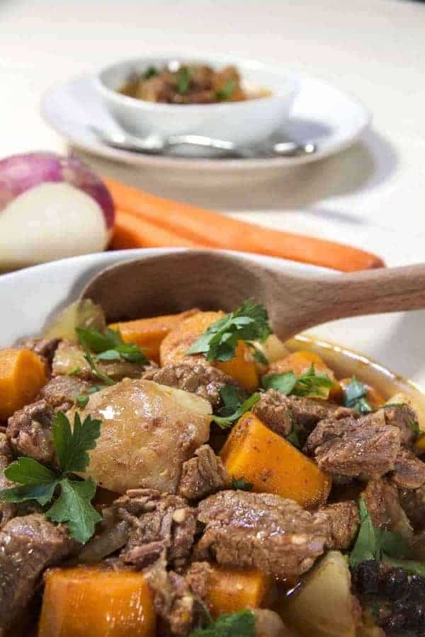 This is a recipe for Instant Pot Low Carb Vietnamese Bo Kho stew. This easy one-step recipe is a low carb bo kho that is a hearty, fragrant soup made of beef, turnips,star anise, 5-spice powder, and curry powder. My whole house smelled amazing as this cooked!