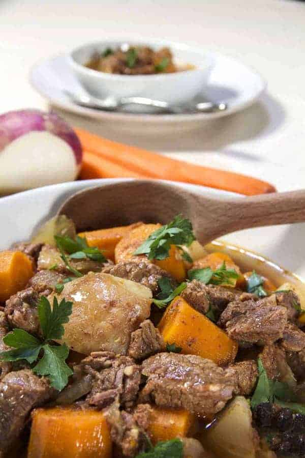 This is a recipe for Instant Pot Low Carb Vietnamese Bo Kho stew. This easy one-step recipe is a low carb bo kho that is a hearty, fragrant soup made of beef, turnips, star anise, 5-spice powder, and curry powder. My whole house smelled amazing as this cooked!