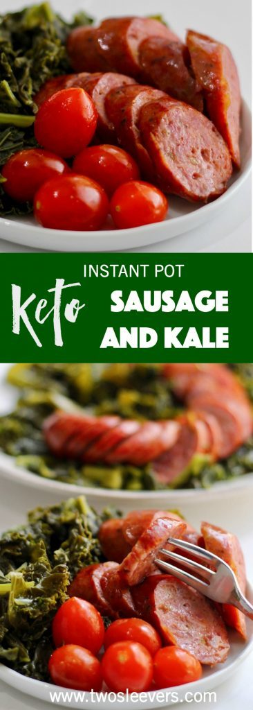 Instant Pot Sausage and Kale recipe is a wonderful, quick low carb supper that requires no pre-planning. Sausage and Kale pressure cooked for a fast meal.
