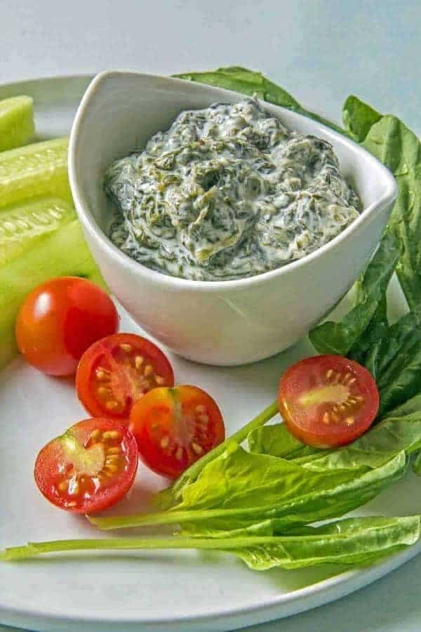 SImple, healthy and tasty Persian Yogurt with Spinach dip is great with vegetables or bread. Use this base recipe to create variations with just a few additional spices or ingredients.