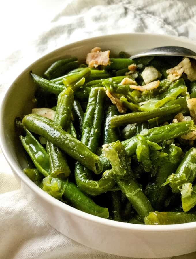 Green Beans with Bacon Tall