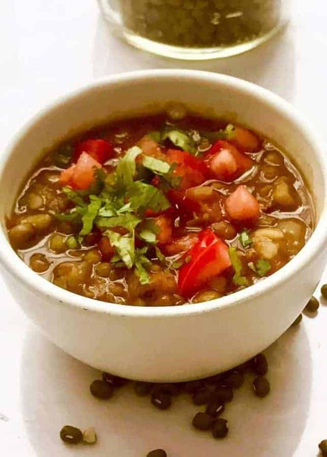 This recipe for Pressure Cooker Indian Moong Dal cooks so fast in your pressure cooker or Instant Pot, that it makes this hearty, protein-rich dal easy to make for weeknight dinners. This recipe allows you to harness the power of your pressure cooker to skip several stovetop steps, without compromising flavor.