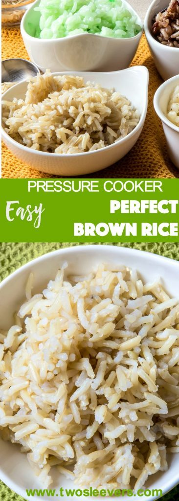 How to get perfect pressure cooker brown rice each time. No more over or undercooked rice, get perfect brown rice in your Instant Pot or Pressure Cooker.