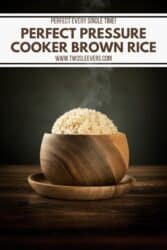 perfect pressure cooker brown rice