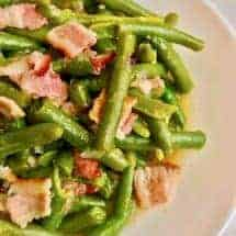 Pressure Cooker Green Beans with Bacon is a quick, low carb, nutritious dish that can eaten either as a side dish, or as your main low carb meal. Just beans, bacon, and a few seasonings make this a fast and easy dish in your Instant Pot.