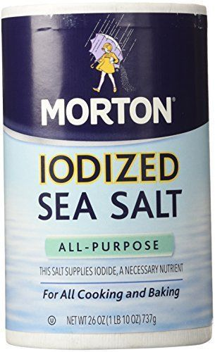 Morton Salt Iodized Sea Salt - 26 oz