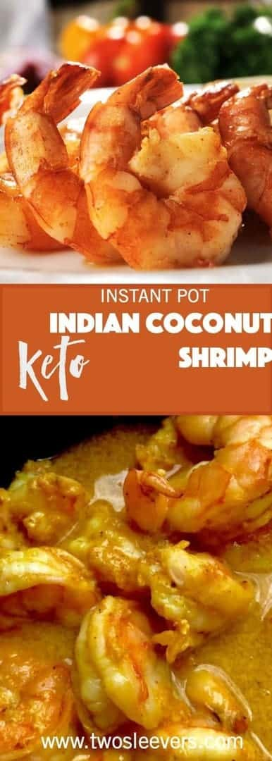 Easiest ever authentic Indian Coconut Shrimp curry cooks in minutes in your pressure cooker or stovetop. Very little effort for a lot of taste. I love this for an easy dinner!