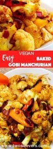 Very simple Gobi Manchurian recipe has all of the taste and none of the oil of a typical Gobi Manchurian. Quick way to enjoy Indian-Chinese food at home.