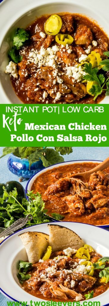 This super-simple yet flavorful Mexican Chicken Pollo con Salsa Roja will add great pizzazz to your dinner table. Great way to change up your chicken game! It's fast, delicious, and extremely flavorful.