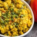 This pressure cooker dry urad dal or sookhI urad dal recipe is a classic Punjabi dish. Easy, protein-packed vegan punch of deliciousness.