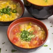 This Spicy Corn Chicken Soup is a fast, comforting meal that is spicy, easily put together with what you have in the pantry, and guaranteed to wake up your taste buds.