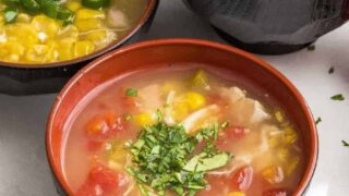 Spicy Corn Chicken Soup