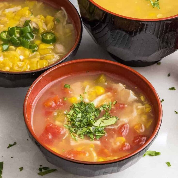 Instant Pot Spicy Corn Chicken Soup