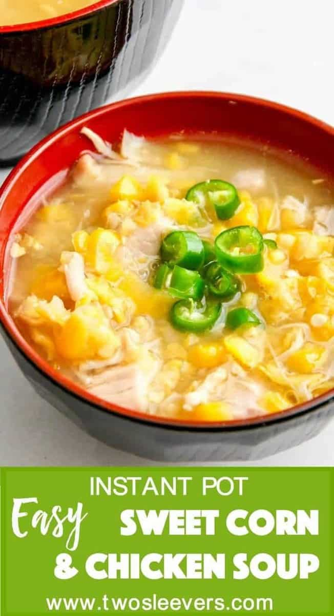 Indian-Chinese version of Pressure CookerSweet Corn Chicken Soup is a fast, comforting meal that is kid-friendly while having plenty of flavor for the grown-ups. This is also the perfect recipe for those of us who have auto-immune or other diseases when we can't stand for long periods and cook
