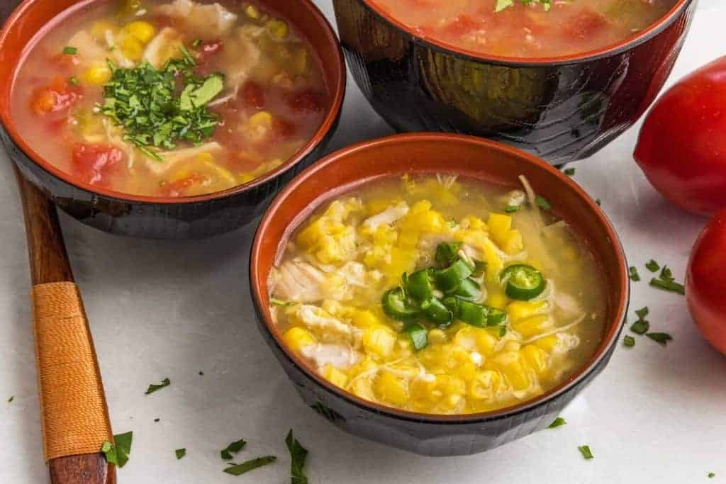 Indian-Chinese version of sweet corn and chicken soup is a fast, comforting meal that is kid-friendly, while having plenty of flavor for the grown-ups.