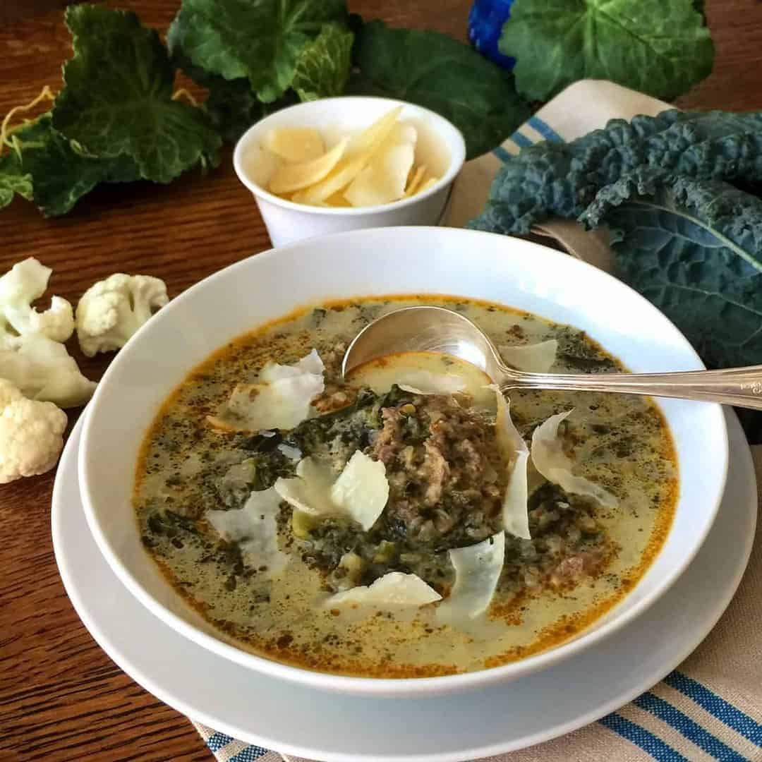 Low Carb Italian Sausage Kale Soup – Two Sleevers