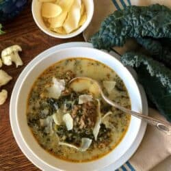 Low Carb Italian Sausage Kale Soup