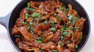 Pressure Cooker Keto Dae Ji Bulgogi Korean Spicy Pork