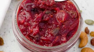 Pressure Cooker Cranberry Chutney