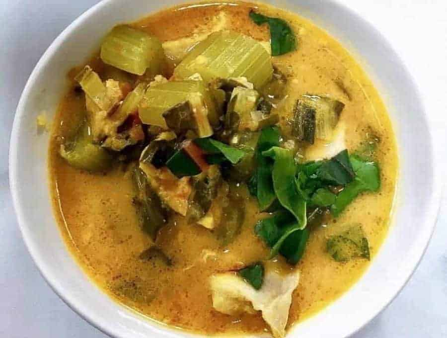 Spicy Low Carb Chicken Soup