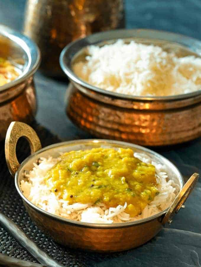 Pressure Cooker Rice and Dal
