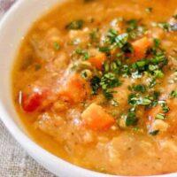 Instant Pot Creamy Red Lentil Soup