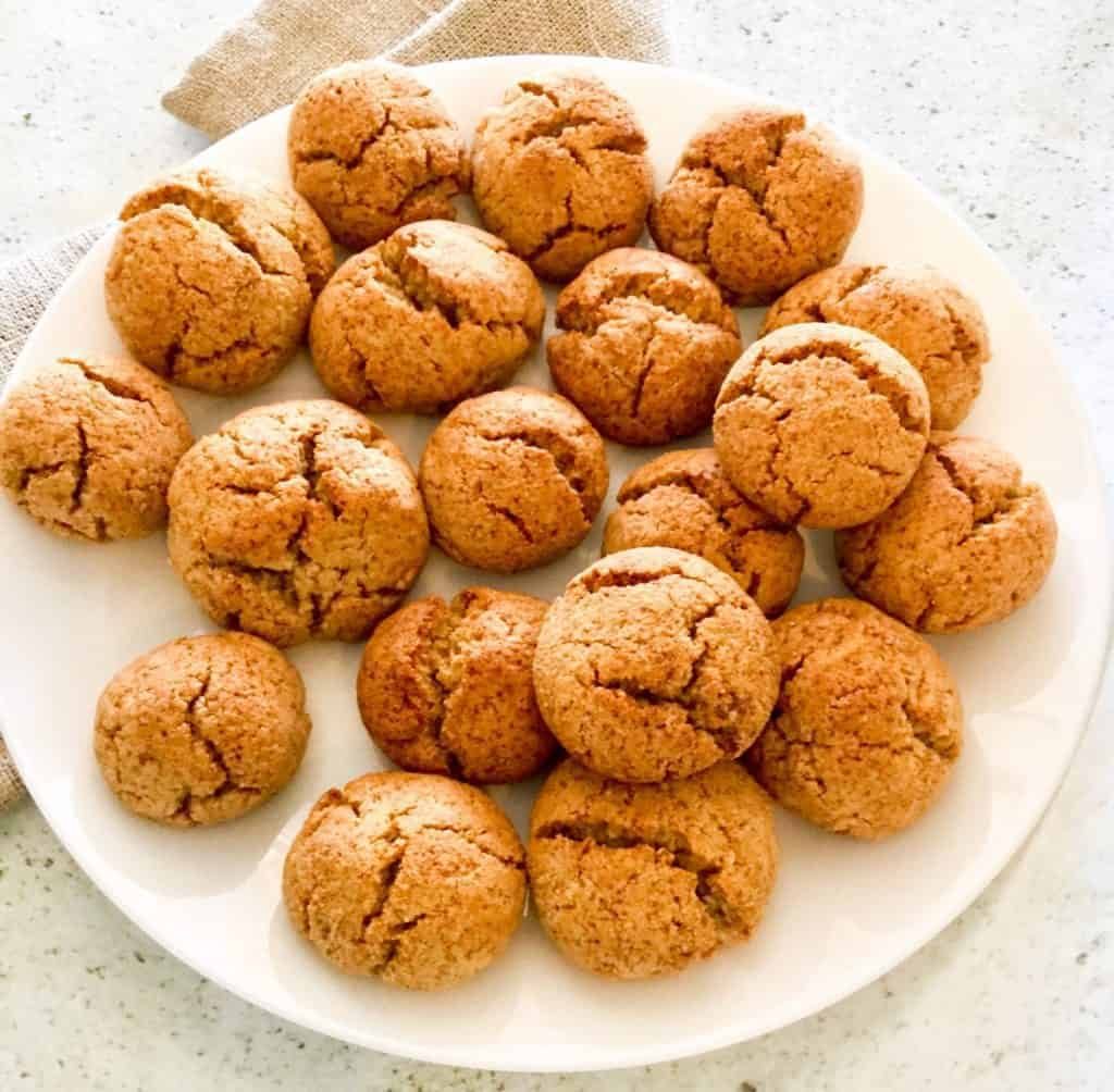 These little keto cookies won't last long. Perfect texture, 10 min prep, and incomparable taste. You may find yourself choosing these spiced keto cookies over sugary ones. These little ones are gluten-free, vegetarian, low-carb, keto, and if you sub the butter with coconut oil, they are also dairy-free and paleo.