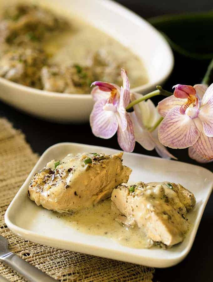Instant Pot Low Carb French Garlic Chicken Recipe