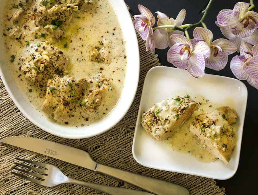 Low Carb French Garlic Chicken
