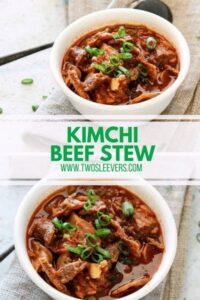 kimchi beef stew