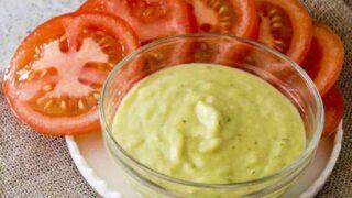Keto Creamy Avocado Tomatillo Salsa