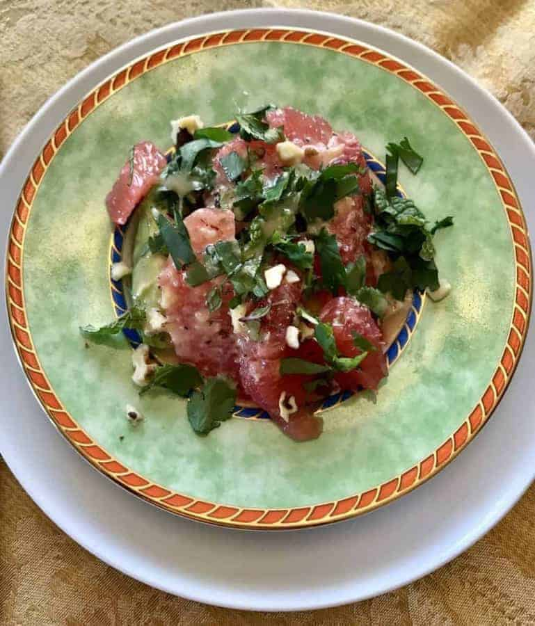 A delightful lovely light salad, this Avocado Grapefruit Salad Recipe is perfect for an elegant brunch or just whenever you want a burst of a tangy summer taste in your mouth. Combine Grapefruit and Avocado with cilantro and mint for a fresh taste—a poem in your mouth.