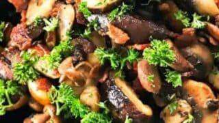 Mushroom Side Dish with Bacon