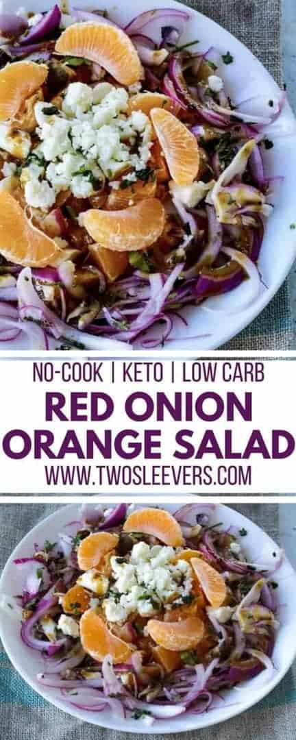 Red Onion Orange Salad | Two Sleevers | Low Carb Salad | Keto Salad | Salad Recipe | Unique Salad Recipe | #saladrecipe #ketosalad #ketolunch #ketorecipe