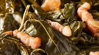 Southern Style Collard Greens with Ham | Pressure Cooker Recipe