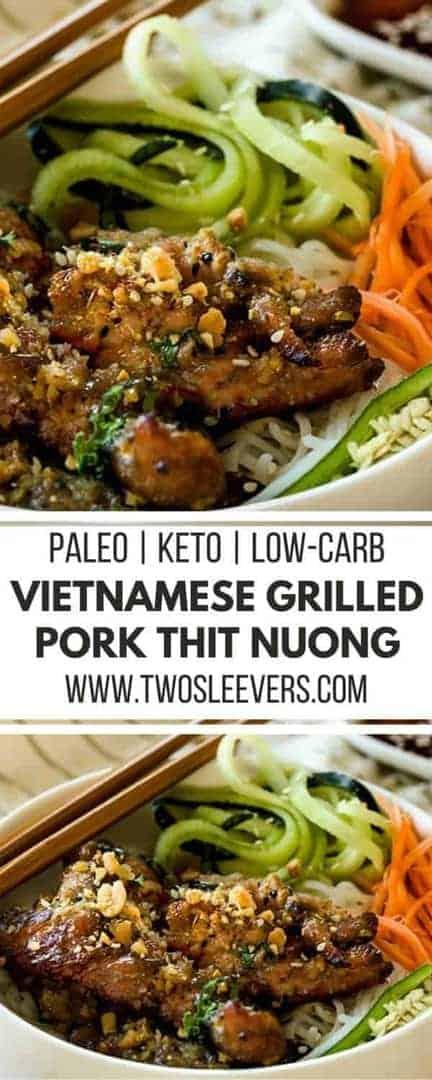 Vietnamese Grilled Pork | Pork Thit Nuong | Vietnamese Keto | Keto Dinner Recipe | Paleo Dinner Recipe | Paleo Vietnamese | Two Sleevers | #twosleevers #vietnameserecipe #ketodinner #paleodinner
