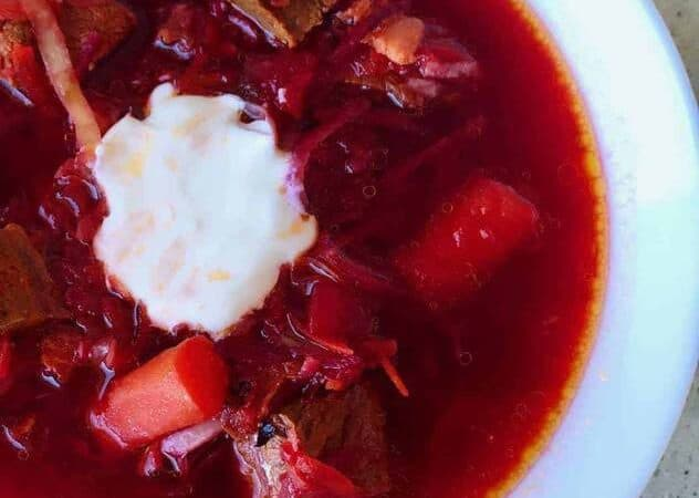Classic Russian borscht recipe that has been simplified for your Instant Pot or pressure cooker, to give you the traditional taste you want, without spending half the day making this authentic Russian Borscht.