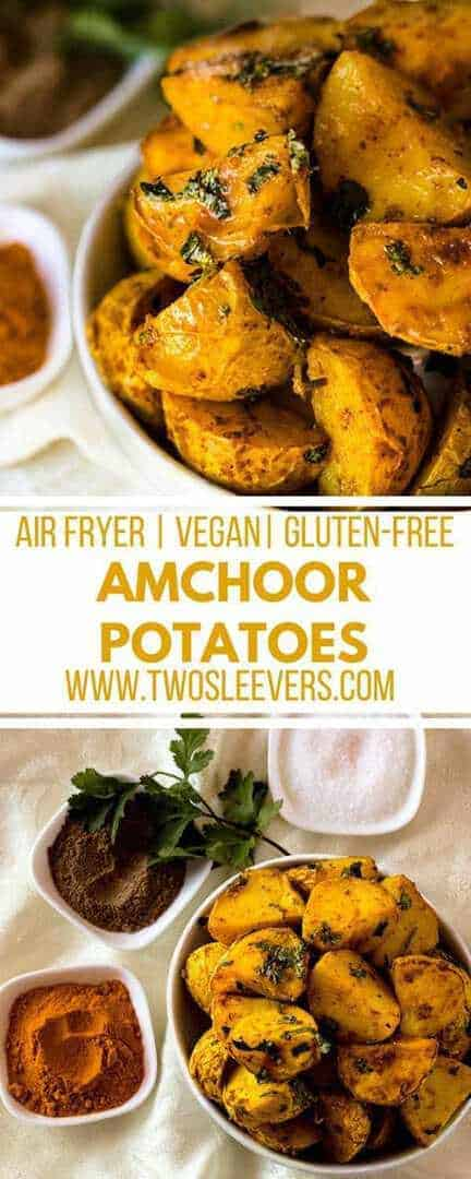 Amchoor Potatoes | Indian Potatoes | Air Fryer Potatoes | Air Fryer Side Dish | Air Fried Potatoes | Amchoor Recipe | Two Sleevers #airfryerrecipe #amchoorpotatoes #airfryerpotatoes