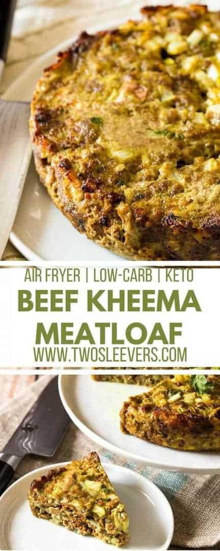 Beef Kheema Meatloaf | Indian Meatloaf | Air Fryer Meatloaf | Air Fryer Keto Recipe | Keto Meatloaf Recipe | Low Carb Meatloaf Recipe | Two Sleevers #ketomeatloaf #ketodinner #lowcarbdinner #lowcarbindian